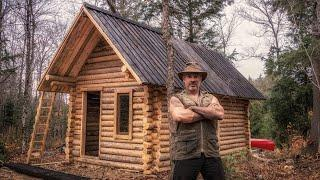 How to Build a Cheap Off Grid Log Cabin, Ep1 | Buying Logs, Chink and Daub, Pine Tar