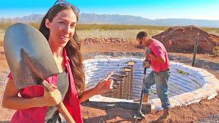 Laying The Foundation For Our Off-Grid Earthbag Dome Home