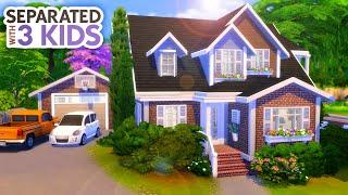 SEPARATED PARENTS w/ 3 KIDS // Sims 4 Speed Build