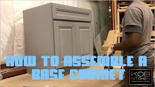 KOB Kitchen teaches you how to assemble a base cabinet