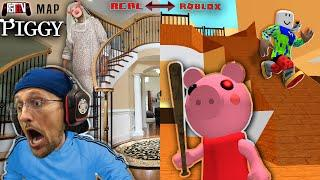 ROBLOX PIGGY but in OUR HOUSE!  Escape the FGTeeV House Tour! (CUSTOM Build Mode Map)