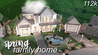 Bloxburg: Spring Family Home | Speed Build