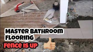 HOUSE BUILDING IN THE PHILIPPINES - EPISODE 156: MASTER BATHROOM FLOORING & FENCE IS UP