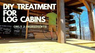 LOG CABIN TREATMENT. How to keep the logs from rotting forever.