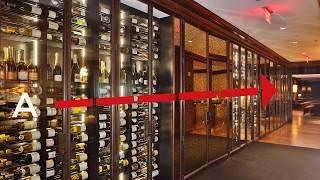 The Historic Design of Rosewood Hotel Wine Cellar!