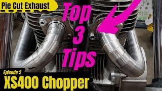 How To Build A Pie Cut Motorcycle Exhaust - Garage Built XS400 Chopper