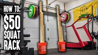 How To: DIY Squat Rack & Bench Press Rack for $50