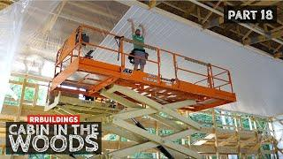 Cabin in the Woods Part 18: Installing Metal Ceiling