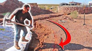 Hand Trenching The Foundation For An EARTHBAG Dome Home | Are YOU The Hero We're Looking For?
