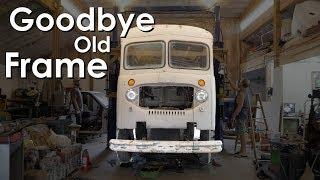 1955 Chevy Van Build - Removing the Body From the Frame - Walde's Garage ep.5