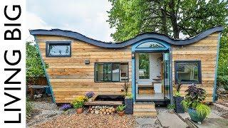 Natural-Built Tiny House Incorporates Biophilic Design And A Living Roof