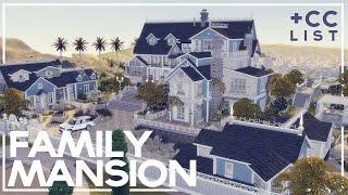 Huge Family Mansion Build I The Sims 4 + CC Links