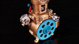 1 Cylinder Mini Engine Build - Stop Motion Engine Build