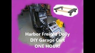 DIY Garage Cart with a HARBOR FREIGHT Furniture Dolly...One hour BUILD