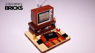 Lego My First Television 80s Edition with My Old Basement Speed Build designed by Chris McVeigh