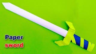 Paper sword easy step by step | How to make a Paper Sword | origami paper sword easy