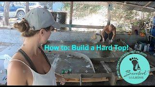 How to: Build a Hardtop for a Hurricane Damaged Catamaran Part 4 (S2 E18 Barefoot Sail and Dive)