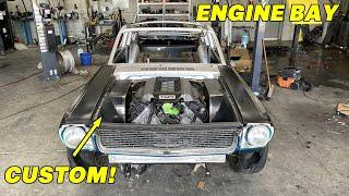 Building The Custom Engine Bay For My Coyote Swapped 1966 Mustang!