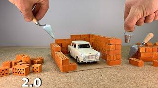 How To Build a MINI GARAGE 2.0 -  How to build with mini Bricks - Bricklaying