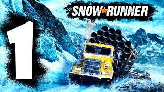 SnowRunner GamePlay Walkthrough - Build The Bridge And Unlock Garage And More