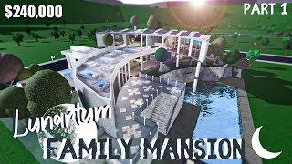 Bloxburg | Lunarium Family Mansion || House Build [Roblox] [Part 1/2]