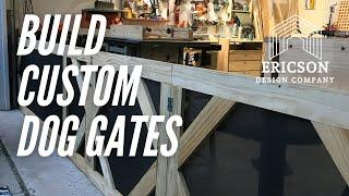 Woodworking | How to build dog gates | small shop garage wood shop