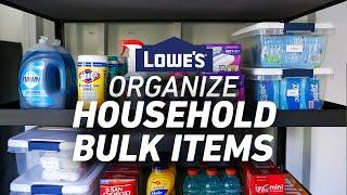 BULKY ITEMS | Storage and Organization Solutions