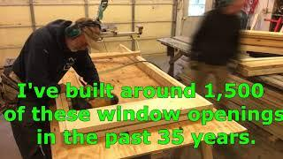 How to build walls and window openings for a garage