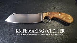 KNIFE MAKING / CHOPPER 수제칼 만들기 #62