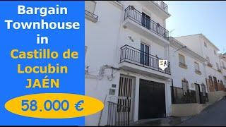 TH4615 Bargain Furnished 4 Bed Town Properties + garage in Spain for sale Jaen, inland Andalucia.