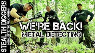 We are back metal detecting cellar holes finding coins & relics