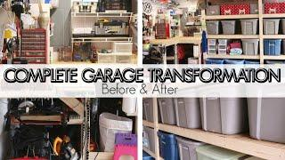 EXTREME DISASTER GARAGE STORAGE & ORGANIZATION | DIY GARAGE SHELVES | HOW TO ORGANIZE YOUR GARAGE