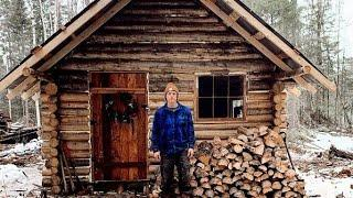 24 Year Old Builds Mortgage Free Off Grid Log Cabin In The Wilderness