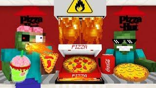 Monster School: WORK AT PIZZA HUT PLACE! - Minecraft Animation
