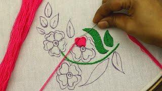 decorative hand embroidery pattern for home decor embroidery design @Nakshi Kantha Design