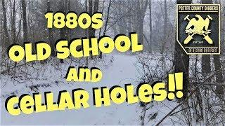 Metal Detecting Old School House and a Cellar hole in the woods! TWO HUNTS!