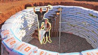 We Finish Building Our Earthbag Root Cellar Walls!!