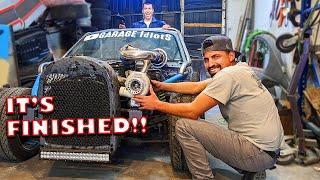 @GARAGE IdiotS Turbo MIata Kart Roll Cage is finished and goes home! Mena Rips & Preston Breaks it!