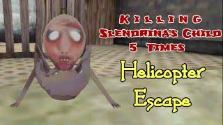 Killing Slendrina's Child 5 Times In Granny Chapter Two Helicopter Escape