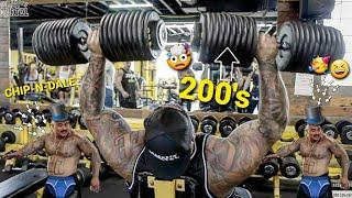 KILLING The 200 Pound Dumbbells On Shoulders Press -  Super *FUNNY* Dance!