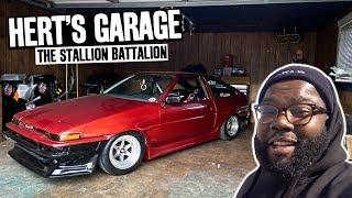Hert's K24 Swapped 240sx FIRST Burnout! A How Not to Clean a Home Garage