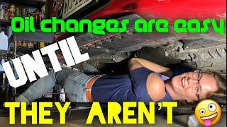 How to change your oil for a laugh, new wheels and tires too! In the shop with Emily EP 67