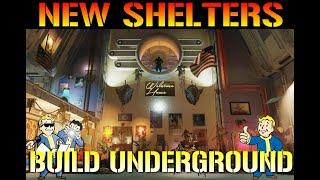 """Fallout 76: NEW """"Shelters"""" BUILD UNDERGROUND!! 