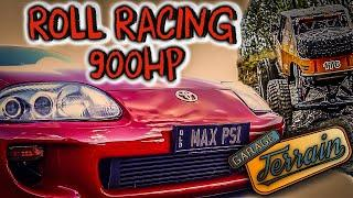 Roll Racing with the Nugget Garage 900HP Supra - The Aussie Ice Cream Cruise - This thing RIPS!!