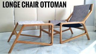 LOUNGE CHAIR. wood project.  КРЕСЛО - ЛЕЖАК своими руками.