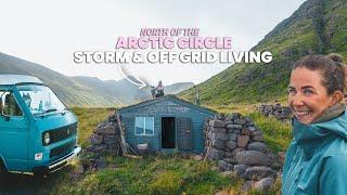 Overcoming a STORM, no sleep & off-grid cabin living