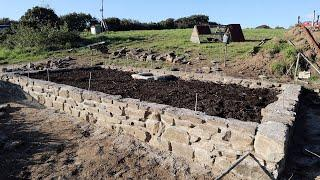 Spring Fed Timber Framed Greenhouse Part 2 Stone Foundation
