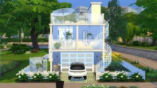 GARAGE HOUSE   The Sims 4   CC SPEED BUILD