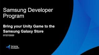 Bring your Unity Game to the Samsung Galaxy Store