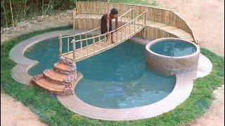 How To Build Luxury Swimming Pool In Wild Step by Step